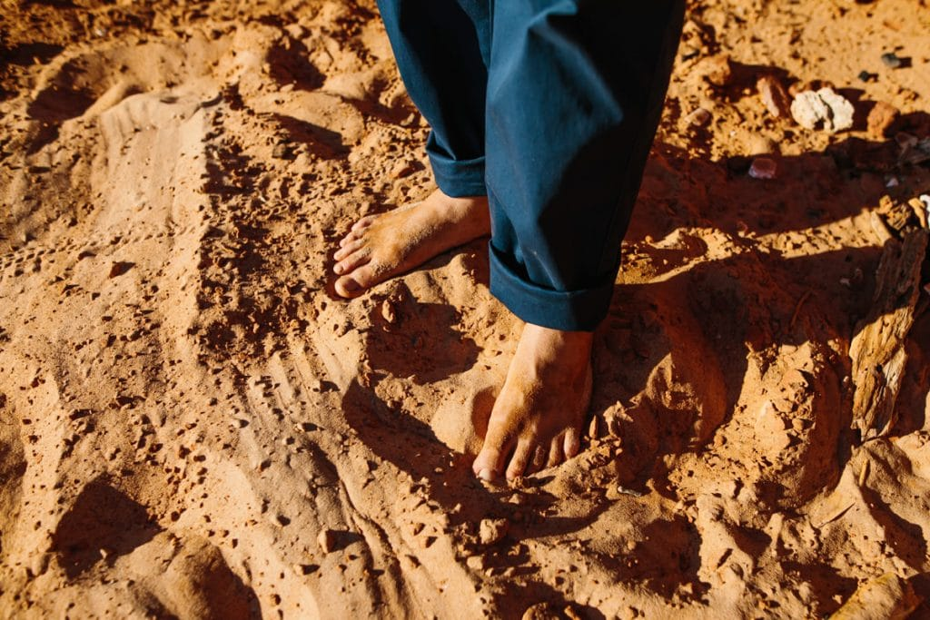 barefoot groom at Broome beach wedding