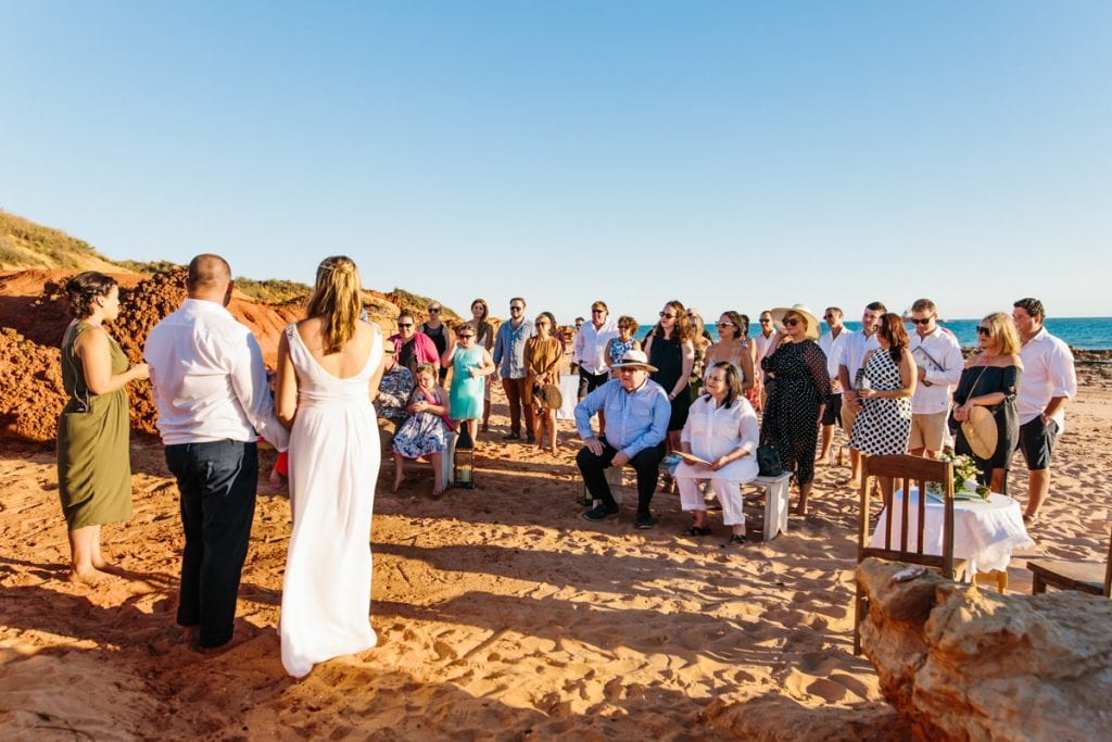 Broome beach ceremony