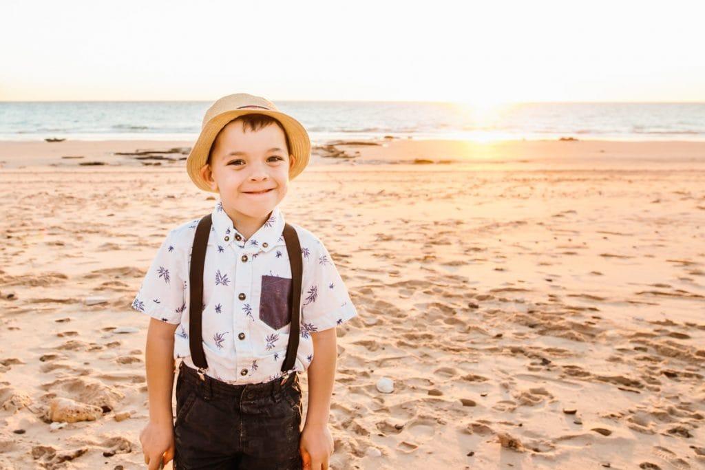 boy at Broome beach wedding