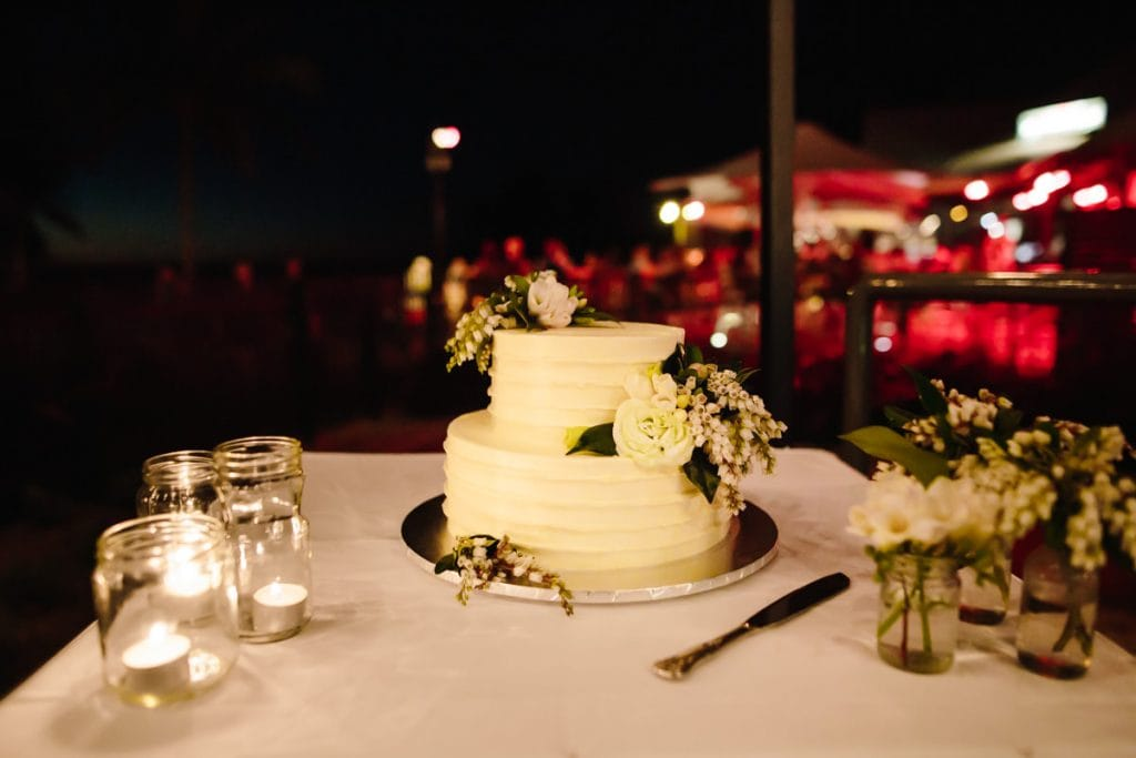 wedding cake at Cable Beach Club Okari deck