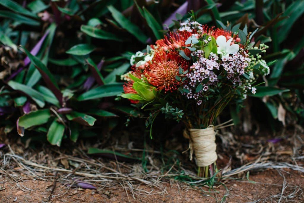 Broome wedding flower bouquet
