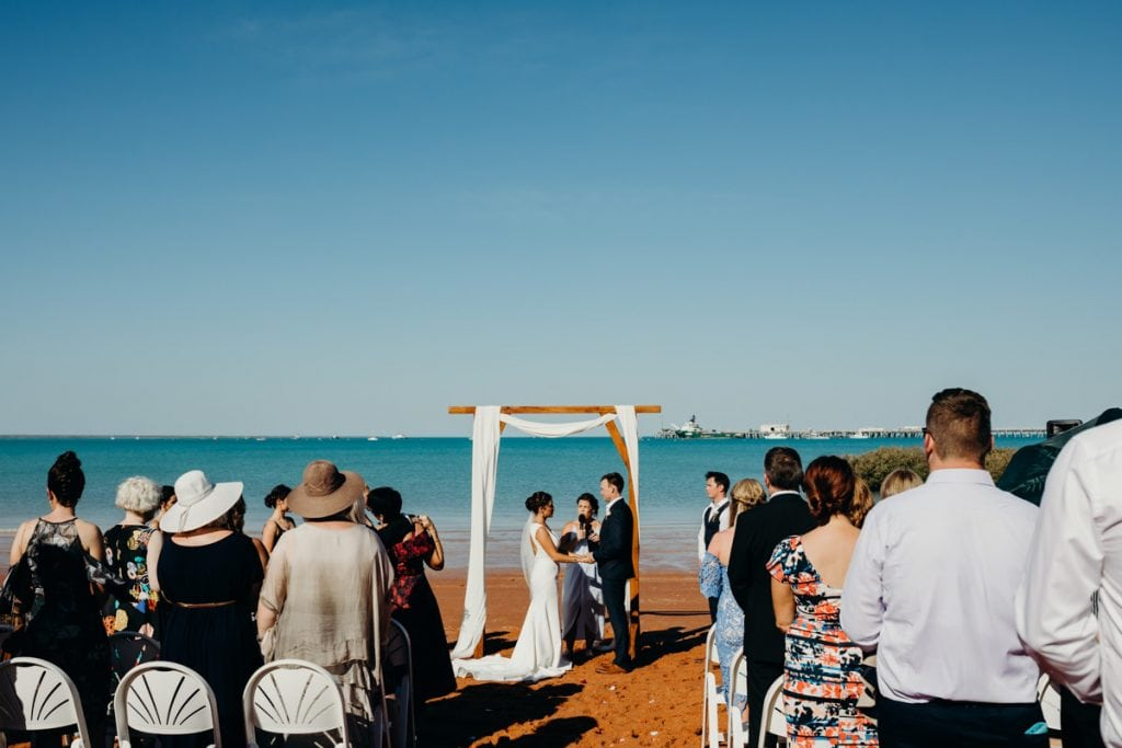 Broome wedding with Indian Ocean as a backdrop