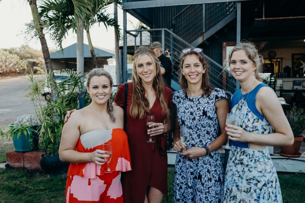 wedding guests in pretty dresses