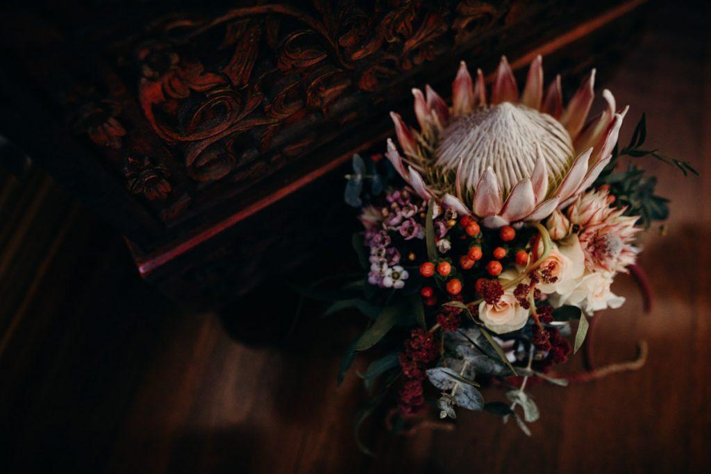 King Protea wedding flower bouquet
