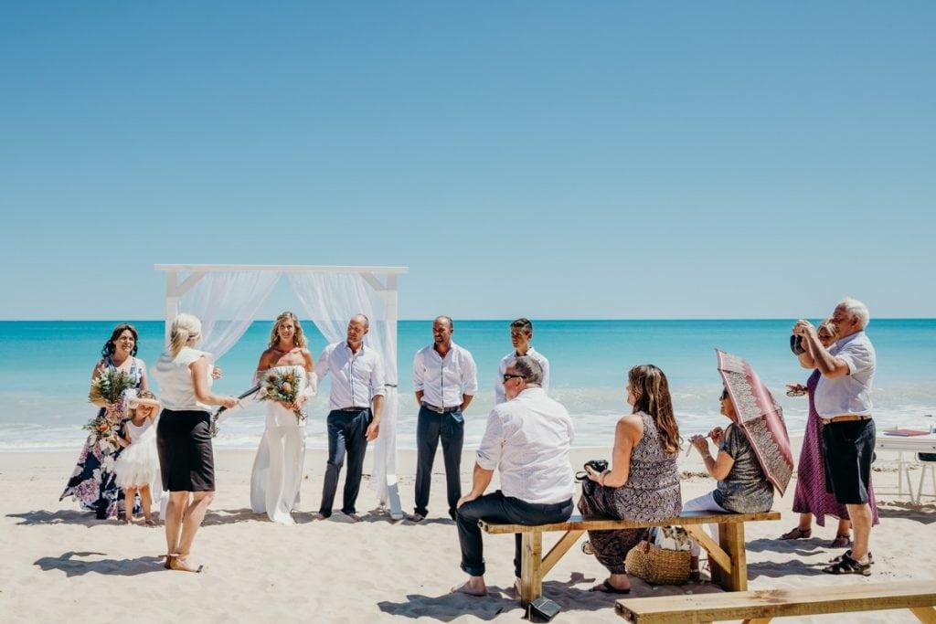 wedding ceremony on Cable Beach with Broome wedding celebrant