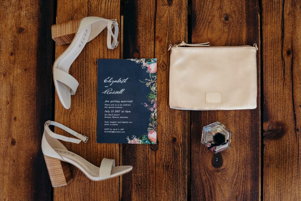 wedding shoes and other details