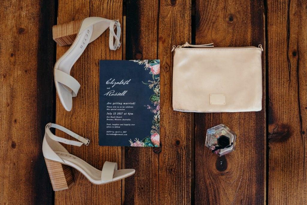 Eco Beach wedding invitation