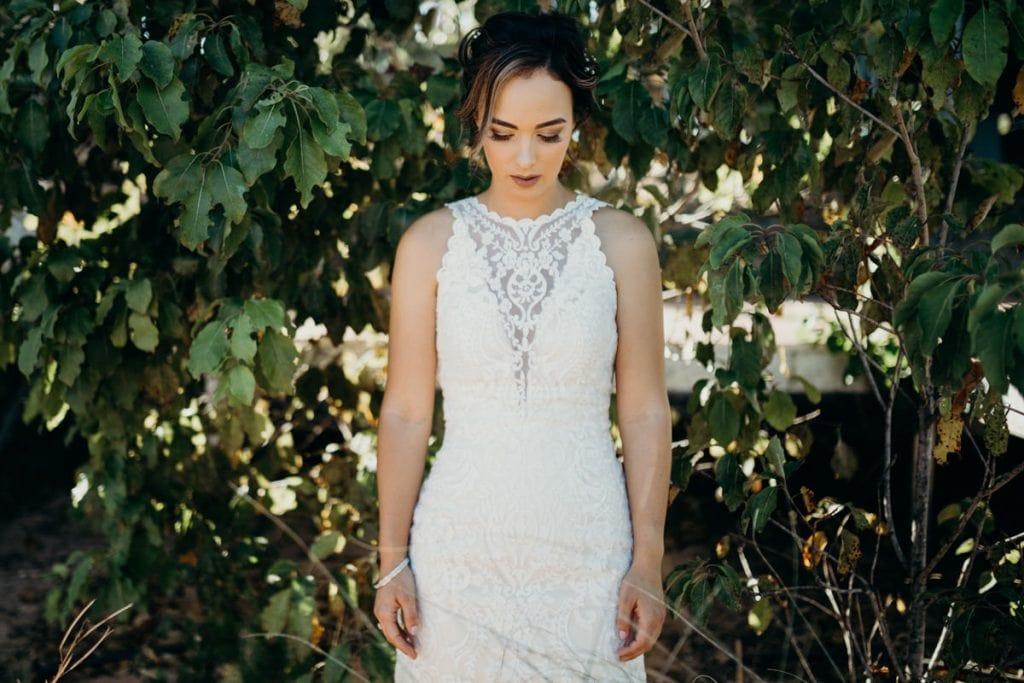 bride in white dress Broome wedding