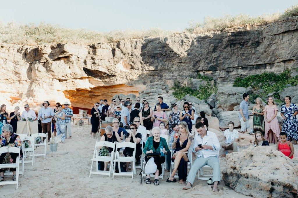 wedding ceremony at Eco Beach