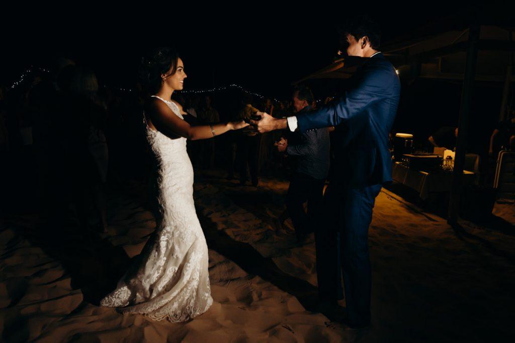 first dance at Eco Beach Resort wedding