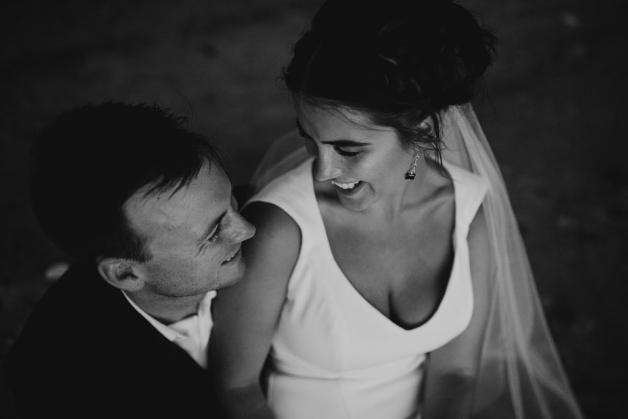 Broome wedding couple black and white