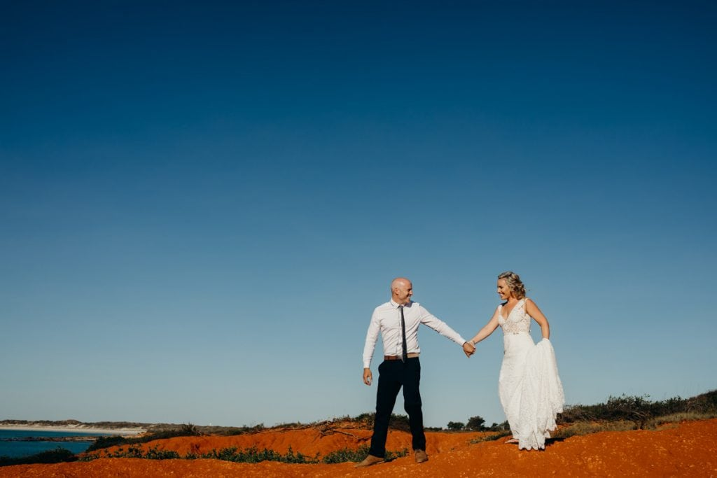 Broome wedding photo shoot at Gantheaume Point