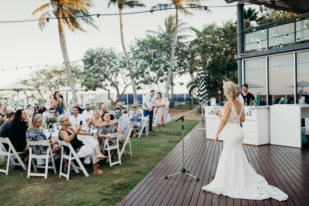 bride and groom speech at Mangrove Hotel