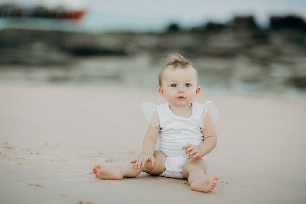 baby girl on Broome beach