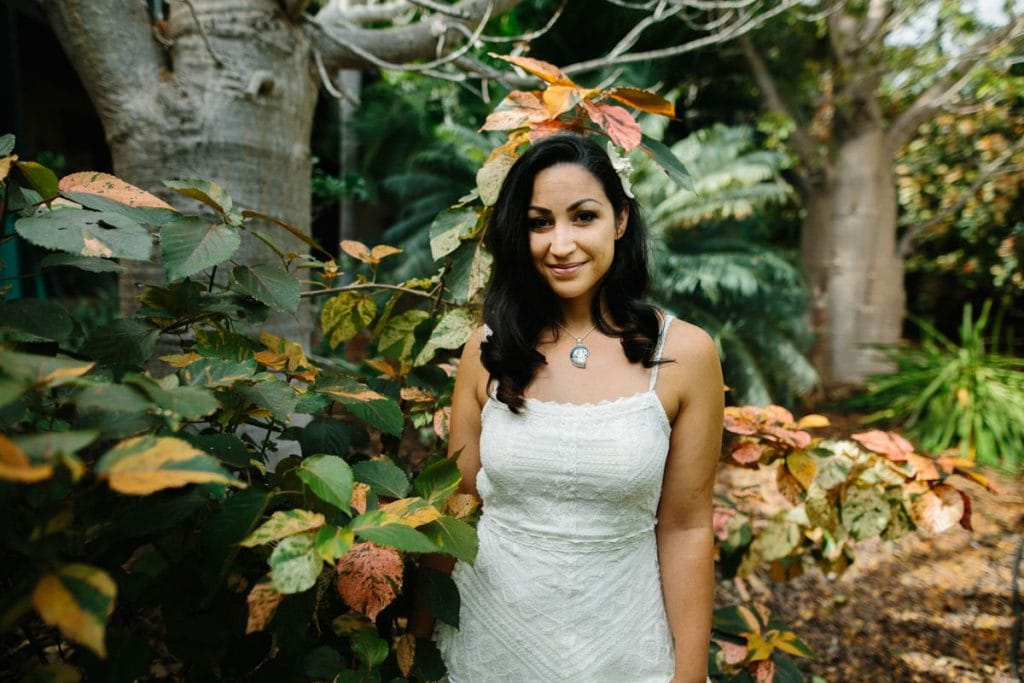 bride among boab tress in Broome