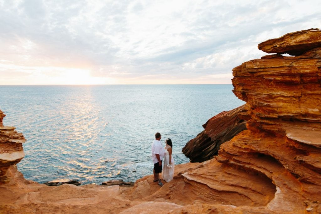 couple at Gantheaume Point