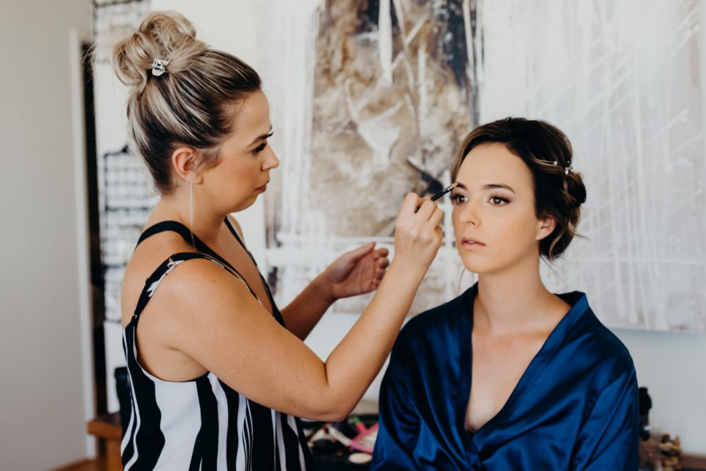 Bonnie from Bonnie Louise Styling with bride