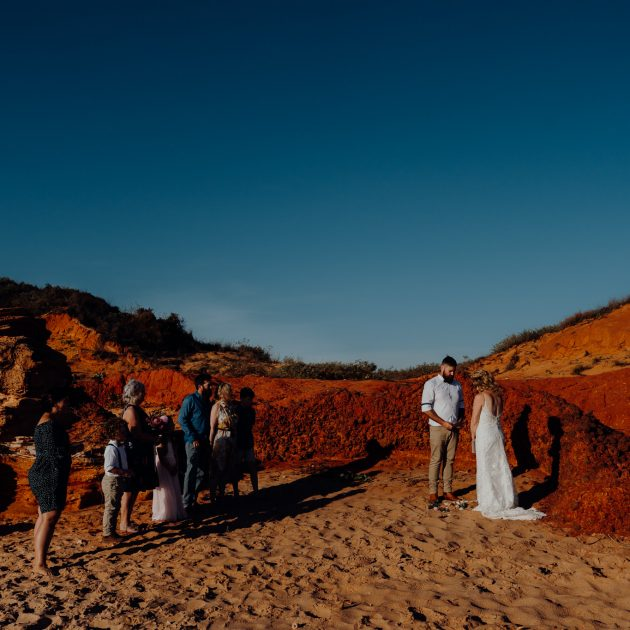 Broome elopement wedding on Reddell Beach