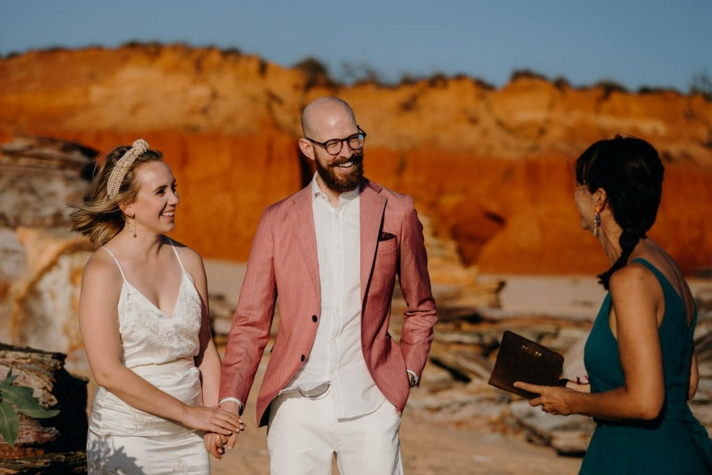 intimate beach Broome elopement with Kelly Morrow celebrant