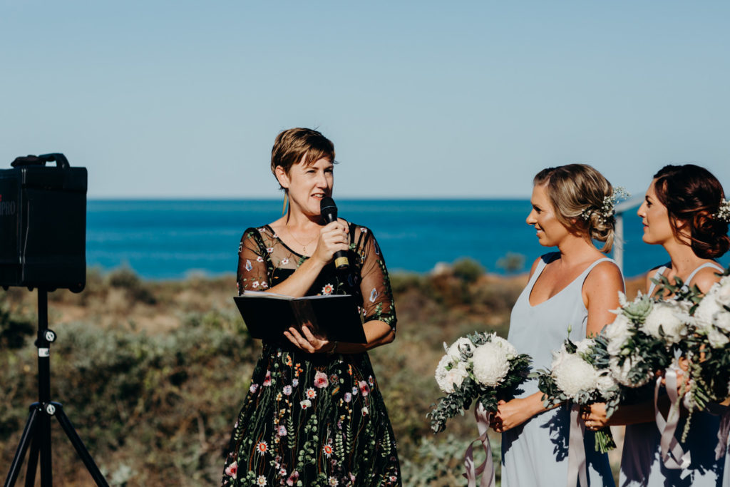 Broome wedding celebrant Kat Taylor at the Fishing Club