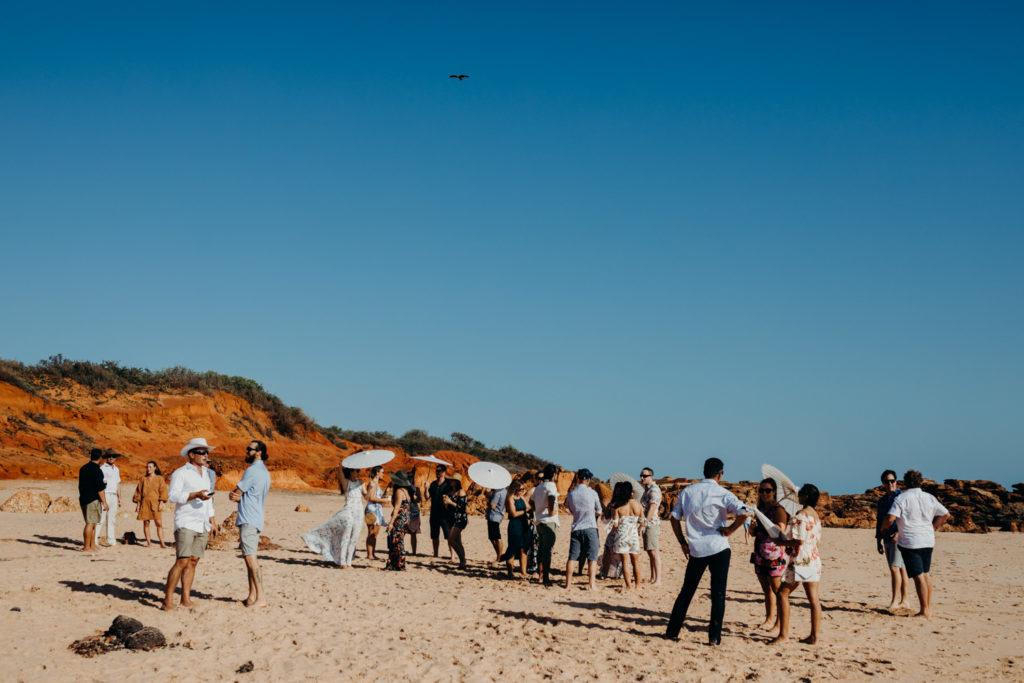 Riddell Beach wedding ceremony in Broome