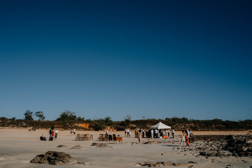 Cable Beach Broome wedding near Gantheaume Point