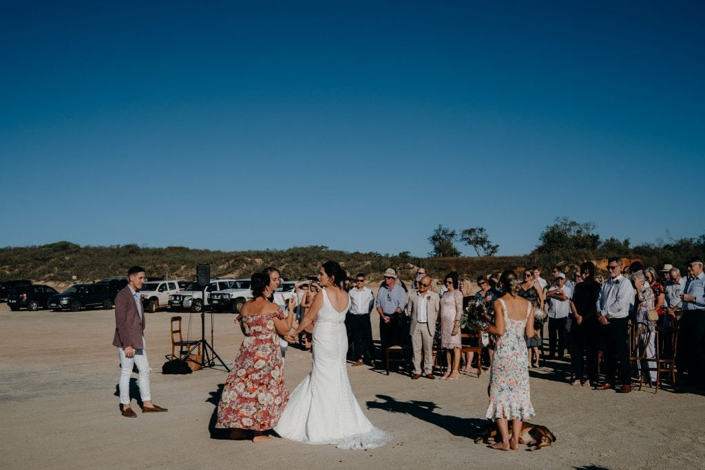 same sex wedding ceremony on Cable Beach in Broome