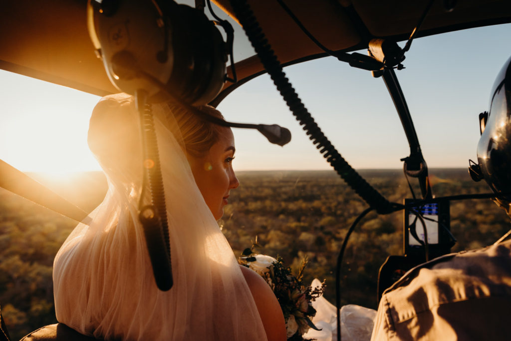 bride in helicopter at sunset Capture Magazine awards 2018 Julia Rau Photography Australia's Top Emerging Photographers