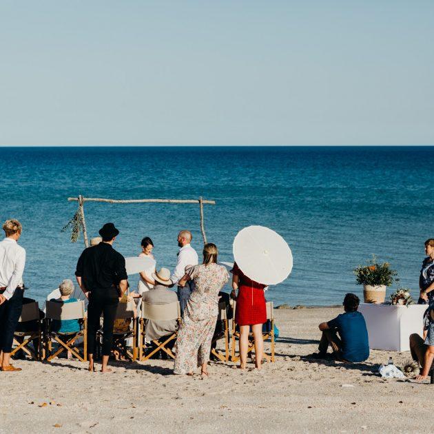 Cygnet Bay Broome elopement beach wedding