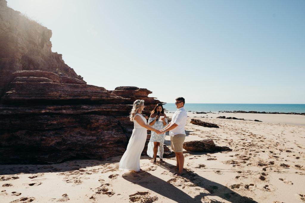 Same sex wedding in Australia on the beach