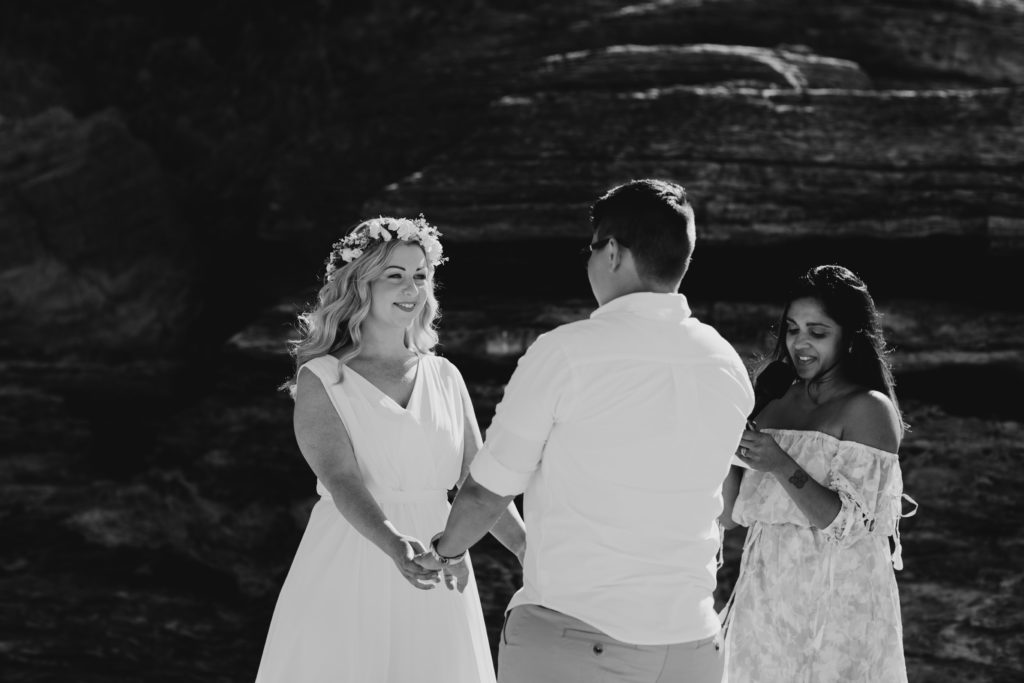 Eco Beach wedding ceremony with Dilhari from Kiss Me You Fool as marriage celebrant