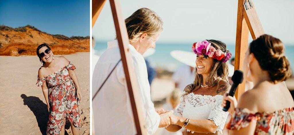 Reddell Beach wedding with Elle Saunders Broome marriage celebrant