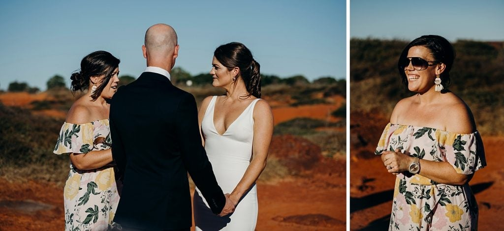 Broome marriage celebrant at Gantheaume Point