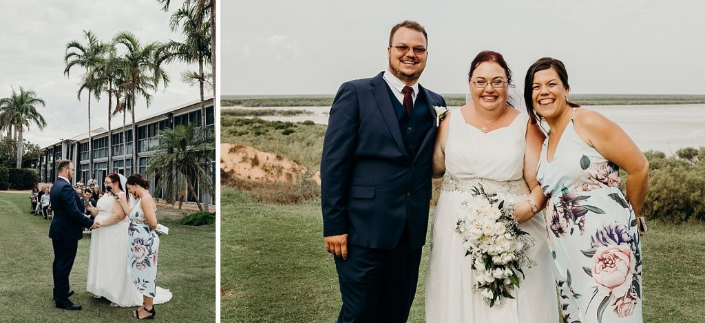 Broome marriage celebrant at the Mangrove Hotel