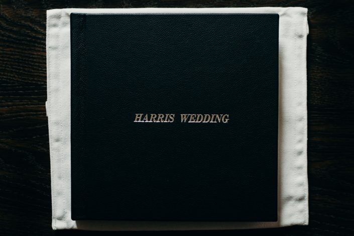 Fine Art Wedding Album black leather cover