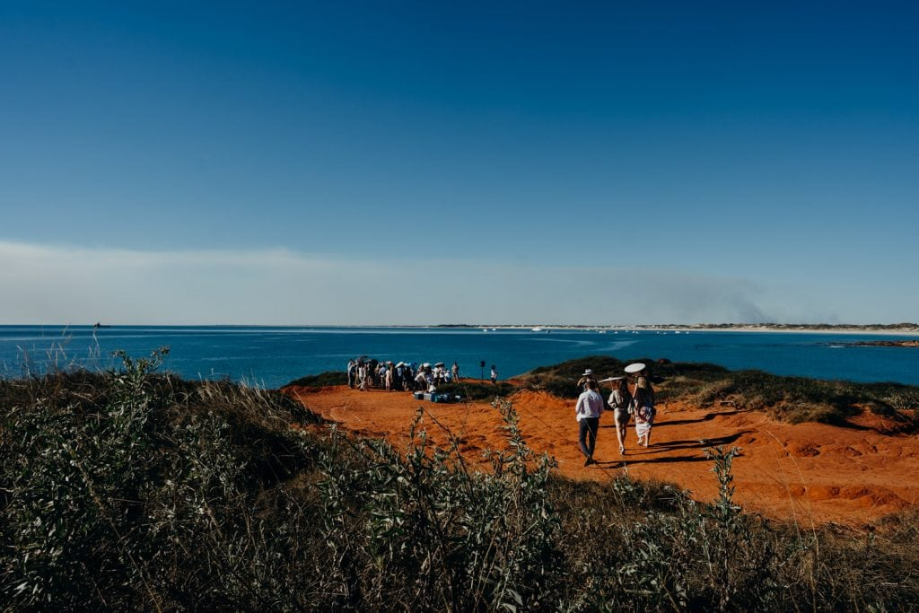 Gantheaume Point cliff top wedding in Broome