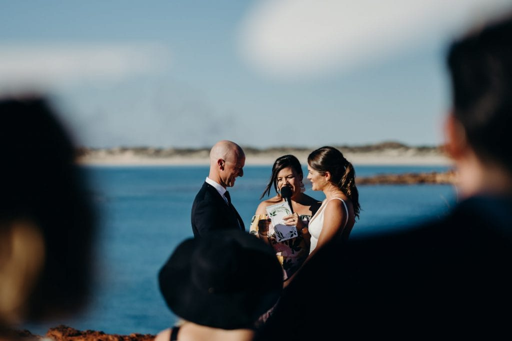 ocean view wedding ceremony in Broome