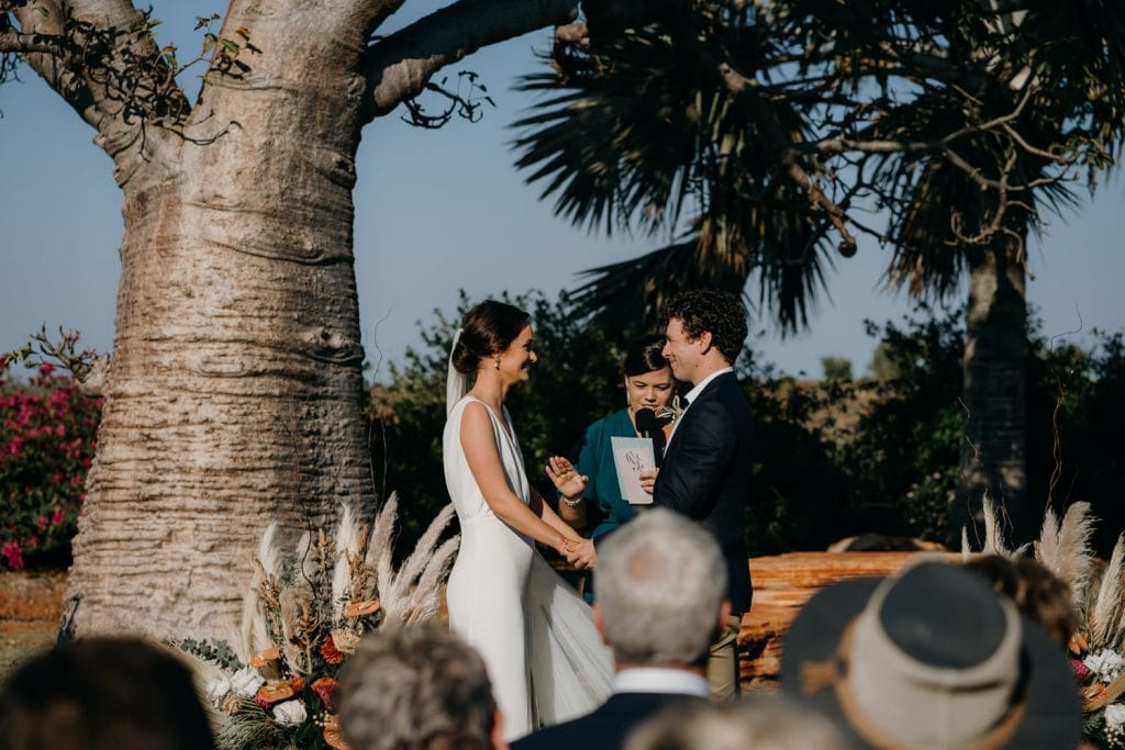 wedding ceremony at Gnarangannie Gantheaume Point Broome in Western Australia