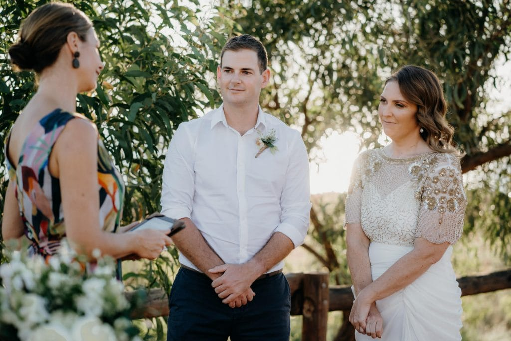 Kelly Morrow Celebrant leads marriage ceremony at Cape Leveque elopement