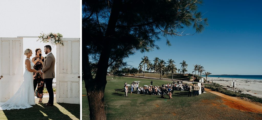 Broome marriage celebrant Elle Saunders at Cable Beach Amphitheatre