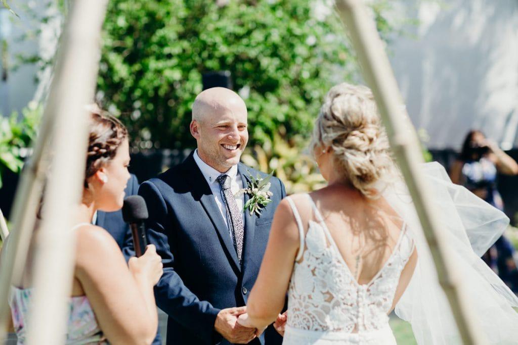 wedding ceremony with Elle Saunders