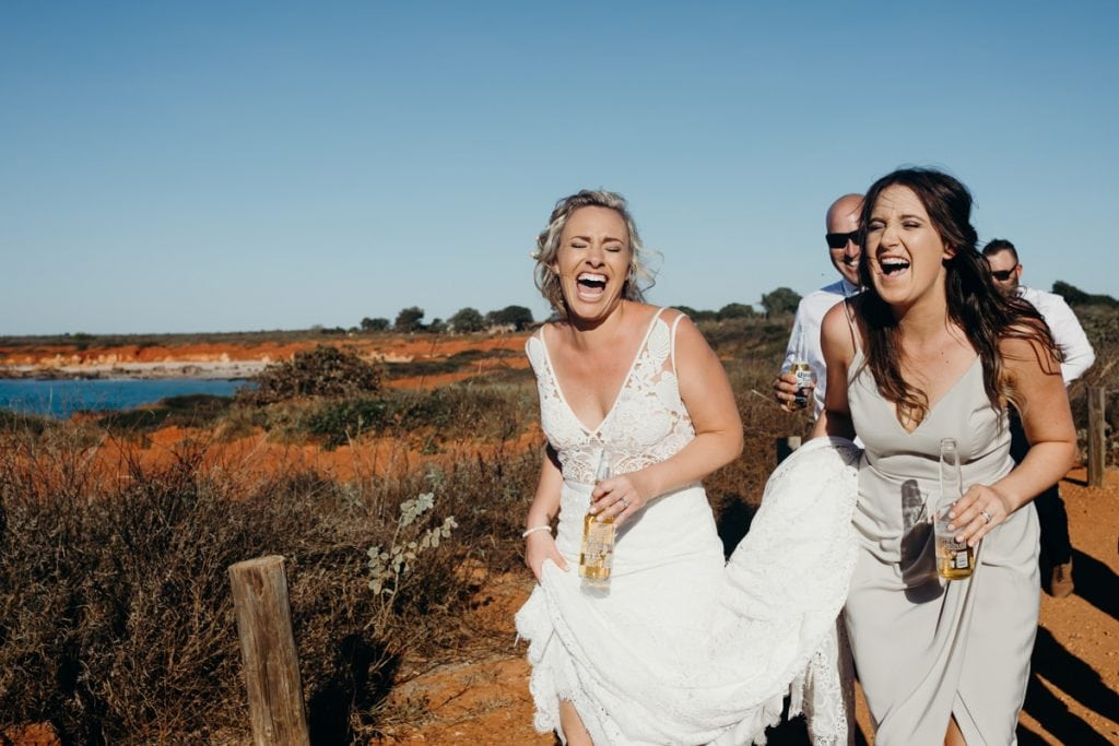 Broome wedding photographer at Gantheaume Point in Broome