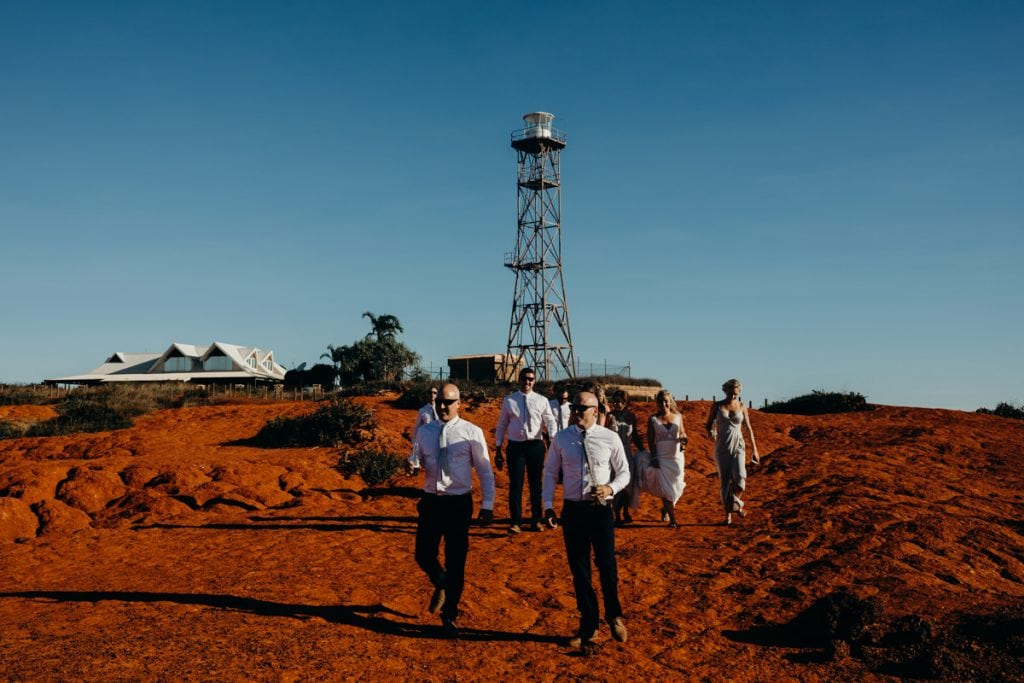Gantheaume Point lighthouse at Broome wedding party