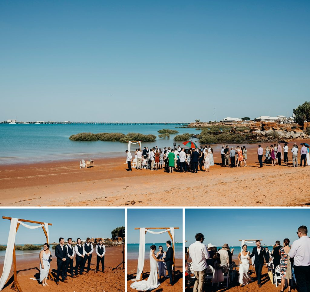 Roebuck Bay wedding at Broome Hovercraft Base