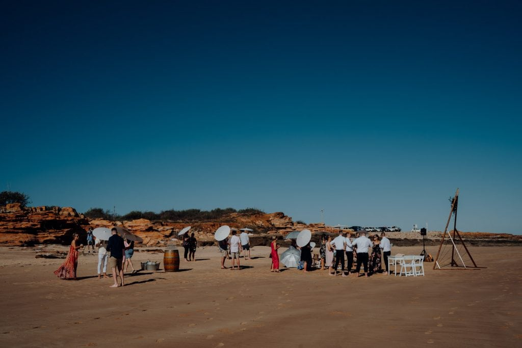 relaxed beach wedding at Entrance Point