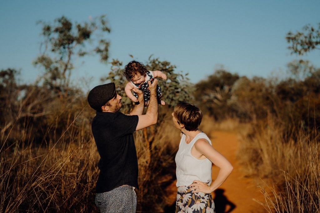 Broome Family Photographer young couple and baby