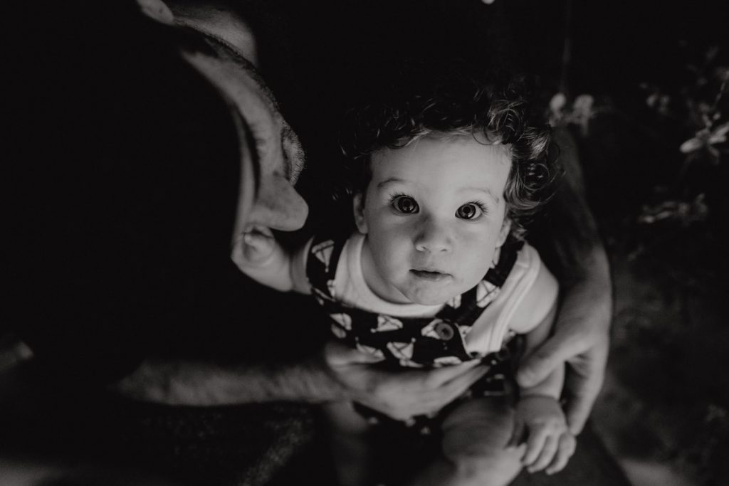 Broome Family Photographer Julia Rau photographed little boy in his father's arms