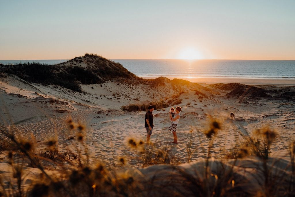 Julia Rau Broome Family Photographer in Cable Beach dunes in Broome at sunset