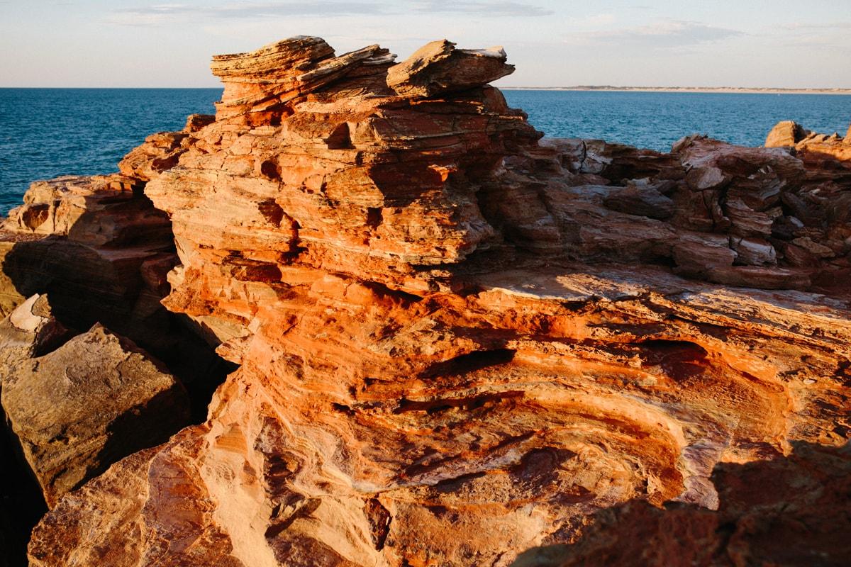 red pindan cliffs at Gantheuame Point