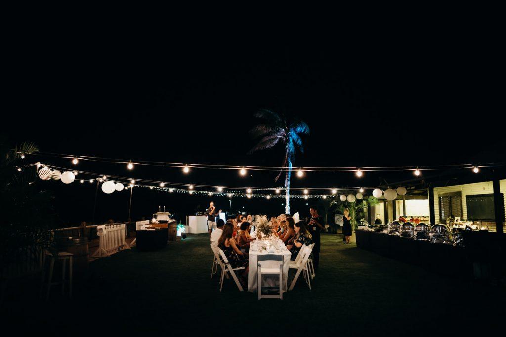 Broome Surf Club wedding reception long table dinner